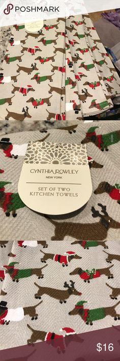 Cynthia Rowley Christmas Dachshund tea towels Cynthia Rowley Christmas Dachshund tea towels Cynthia Rowley Accessories