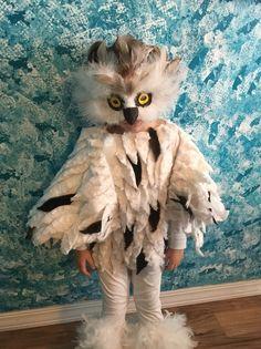 Snow Owl Costume - Halloween Costume Contest via Toddler Owl Costume, Bunny Costume Kids, Bird Costume, Animal Costumes For Kids, Owl Halloween Costumes, Halloween Kids, Owl Costumes, Snow Owl, Elephant Costumes