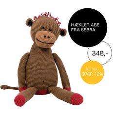 Er du klar på abekattestreger? Find denne søde abe fra Sebra på Dubuy.dk