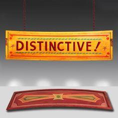 'Distinctive!' 1930's Vintage fairground sign