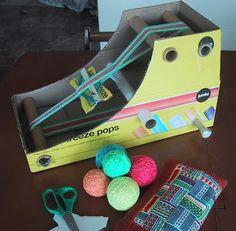 Hearts on Fibre: DIY Cardboard Box Inkle Loom Tutorial #weaving #inkle #DIY