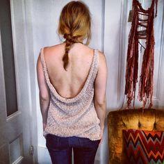 Cotton Cowl Back Tunic. $158 @ isobelandcleo.etsy.com #knitwear #SustainableFashion #isobelandcleo