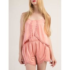 Cheap casual jumpsuit, Buy Quality overall jumpsuit directly from China summer romper Suppliers: Womens Playsuits Sleeveless Backless Summer Rompers Sleeveless Overalls Casual Jumpsuits Shorts Irregular lace Tops New Rompers Women, Jumpsuits For Women, Casual Jumpsuit, Womens Fashion Online, Pink Fashion, Lace Tops, Ideias Fashion, Spaghetti, Summer Playsuits