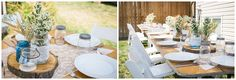backyard wedding tables Sarah Jozsa Photography