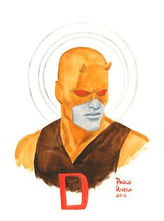 Daredevil Yellow illustration from Paolo Rivera #comics