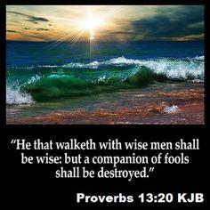 Proverbs 13:20 KJB