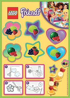 LEGO Friends Party Pieces: Print and cut out these wonderful labels for a delicious fruit skewer! The fun and yummy way for a LEGOtastic party!