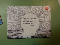 Mail Art envelope. Sharpie and patience. Snail mail