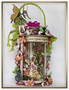 """Captured Fairies"" Altered Art jar by Tonya Gibbs. Fairy Jars, Fairy Crafts, Creation Deco, Altered Bottles, Jolie Photo, Fairy Dust, Graphic 45, Fairy Houses, Altered Art"