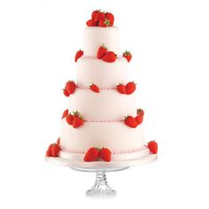 tiered cake with strawberries