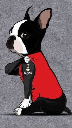 Boston Terrier Tattoo, Boston Terrier Art, Funny Boston Terriers, Boston Terrier Puppies, Boston Terrior, Wallpaper Kawaii, Don Corleone, Dog Art, Dog Love