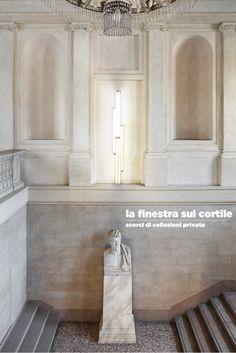 #Lafinestrasulcortile in #GAMMilano A cura di Luca Massimo Barbero  Con #UBSArt e #UBSGlobalArt I neon di Dan Flavin della Collezione Panza (Panza Collection) appaiono luminosi sullo scalone d'entrata della Galleria D'Arte Moderna, a fianco al busto marmoreo che ritrae Appiani di Pompeo Marchesi.  Arte moderna e arte contemporanea si uniscono, giocano tra loro, proponendo un'inedita mescolanza di stili artistico-visivi in GAM Milano.