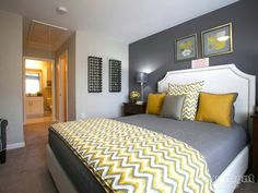 30 yellow and gray bedroom ideas that chic ideas for yellow bedroom decor yellow kids rooms how to use yellow bedroom ideas the 15 cheery yellow bedroomsYellow And Gray Bedding That Will. Yellow Gray Bedroom, Grey Room, Bedroom Colors, Gray Yellow, Yellow Chevron, Grey Bedroom With Pop Of Color, Colour Combination For Bedroom, Yellow Walls, Small Bedrooms