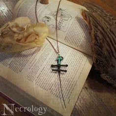 Wicked Lorraine's Cross Necklace Bone Jewelry Oddity by Necrology