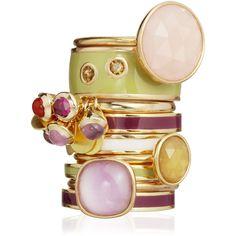 Astley Clarke Colour Cadenza Bear Quartz Ring ($125) ❤ liked on Polyvore