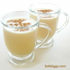 Real homemade eggnog with no sugar added! ❅ Safest Choice Pasteurized Eggs mean you can use real eggs! #Christmas