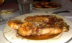 Pascal's Manale famous bbq shrimp in New Orleans Louisiana