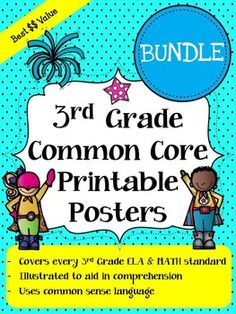 """Common Core Standards """"I Can Statements"""" Posters - Math & Reading"""