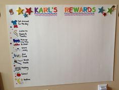 Toddler rewards chart-I like the visual part of it