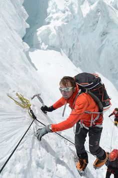 THE SWISS MACHINE - Ueli #Steck climbs on the #Lhotse Face while acclimating for Everest 2012