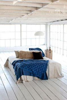 white indigo blue natural bedroom Jill Sharp Brinson