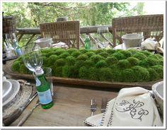Moss filled dough bowl