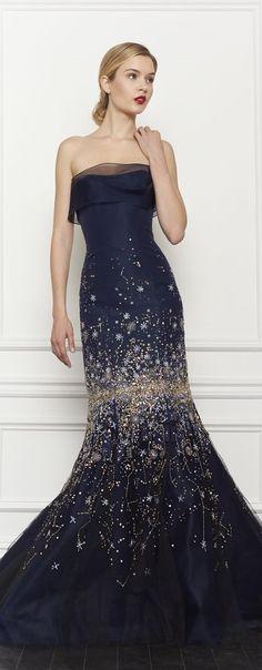 Carolina Herrera Pre-Fall 2013 gown looks a bit like the night sky.