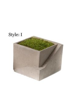 Simple Yet Intriguing Cement Planter Features A Staircase Design Reminiscent Of A Creation By M C Escher Pla With Images Architectural Plants Vagabond Vintage Planters