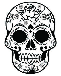 adult coloring pages skull 1
