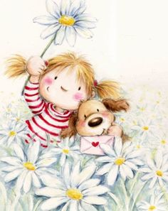 Cute Images, Cute Pictures, Painting For Kids, Art For Kids, Cute Good Morning, Scrapbooking, Cute Clipart, Tatty Teddy, Happy Birthday Images