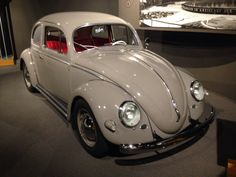 Special Beetle equipped with a Porsche twin cam Carrera engine, suspension mods and Recarro seats. On display at the Revs Institute, Naples, Florida, USA