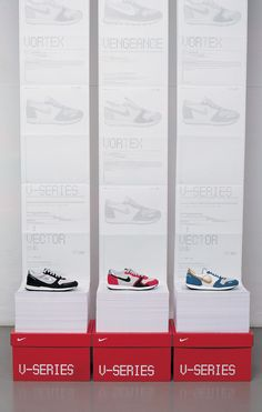 As you can see, all of these different shoes have their own style and design, however they're all from the same brand. This proves that with just one product, in this case shoes, you can design a wide range of unique looking products even if they're from the same brand.
