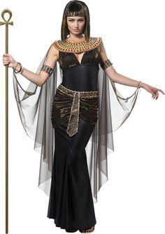 Ägyptische Königin Pharaonin Damenkostüm schwarz-gold , günstige Faschings Kostüme bei Karneval Megastore, der größte Karneval und Faschings Kostüm- und Partyartikel Online Shop Europas!