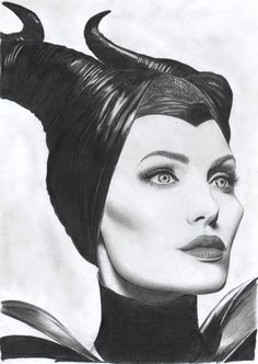 """ Maleficent ""  pencil on paper, FB: https://www.facebook.com/pages/The-Portraits-Art/164524207083225?ref=tn_tnmn"
