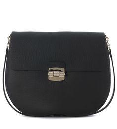72f23b1dc99d8 FURLA CLUB M BLACK LEATHER SHOULDER BAG.  furla  bags  shoulder bags   leather
