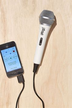 This smartphone/computer compatible microphone for instant karaoke fun anywhere, anytime.