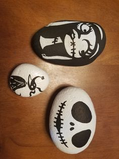 Nightmare before Christmas painted rocks