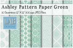 10 Green Seamless Pattern Textures by Lab Designs on @creativemarket