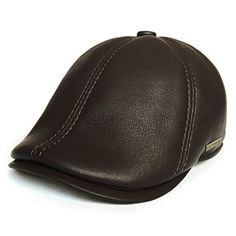 lethmik Leather Flat Hat Gatsby Newsboy Cap Cabbie ivy Irish Hats Driver Hunting BrownM *** You can get more details by clicking on the image.Note:It is affiliate link to Amazon.