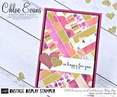 Chlo's Craft Closet - Stampin' Up! Independent Demonstrator: Onstage Display Stamper Blog Hop - Day 6: Painted with Love Designer Series Paper