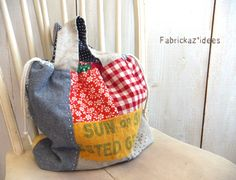 Patchwork Bags, Quilted Bag, Creative Bag, Japanese Bag, Diy Bags Purses, Craft Bags, Linen Bag, Fabric Bags, Cute Bags