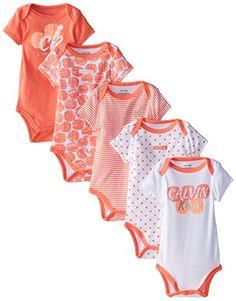 Calvin Klein Baby-Girls Newborn 5 Pack Bodysuits Peach White Group, Multi, 0-3 Months Calvin Klein http://www.amazon.com/dp/B00NNPX6DC/ref=cm_sw_r_pi_dp_SkGvvb0BM2Z3C