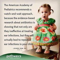 Antibiotics increase ear infections