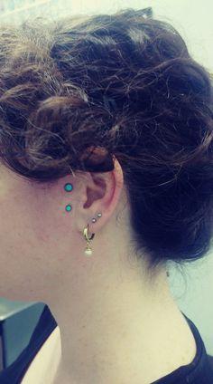 Fresh sideburn piercing, done by Liron Mor @ Dynamo Tattoo, Tel Aviv : piercing