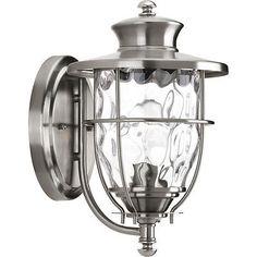 $70 Progress Lighting Wall-Mount 1-Light Outdoor Stainless Steel Lantern P6026-135DI