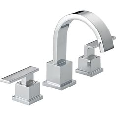 Delta Faucet 3553LF Vero Polished Chrome Two Handle Widespread Bathroom Faucets  | eFaucets.com