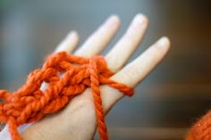 Finger Knitting - An almost forgotten simple way to make something out of almost nothing.