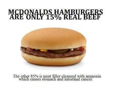 I feel sorry for people who eat McDonald's!