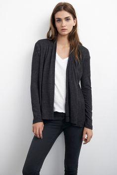 TULLIA TEXTURED KNIT CARDIGAN - Knits & Sweaters - Tees & Tops - Women