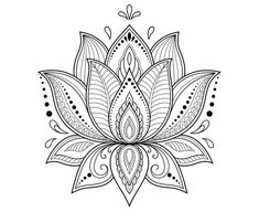 Mehndi lotus flower pattern for Henna drawing and tattoo. Decoration in ethnic oriental, Indian style. Mehndi lotus flower pattern for Henna drawing and tattoo. Decoration in ethnic oriental, Indian style. Lotus Mandala Design, Mandala Art, Lotus Flower Mandala, Mandalas Painting, Lotus Design, Mandalas Drawing, Mandala Tattoo Design, Lotus Henna, Lotus Mandala Tattoo